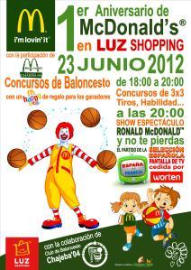 Cartel Aniversario MCDONALD'S Jerez